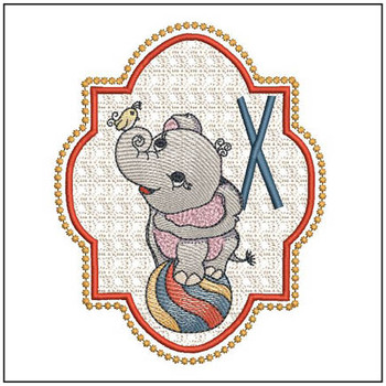 Circus Ellie ABC's - X - Embroidery Design