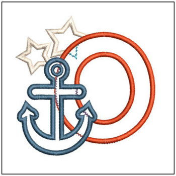 Anchor Applique ABC's - O - Embroidery Designs