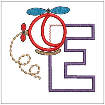 Helicopter ABC's - E - Embroidery Designs