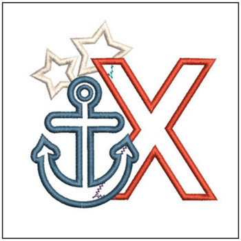 Anchor Applique ABC's - X - Embroidery Designs