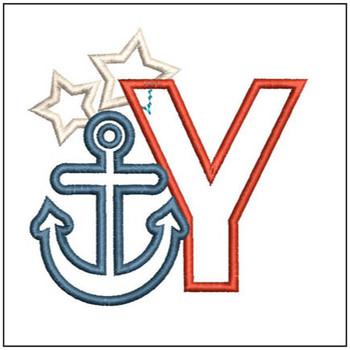 Anchor Applique ABC's - Y - Embroidery Designs