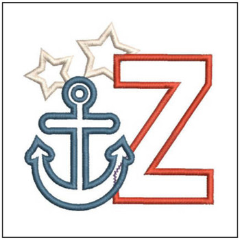 Anchor Applique ABC's - Z - Embroidery Designs
