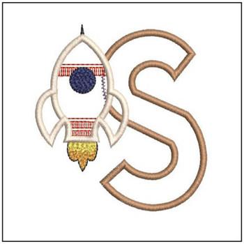 Rocket Applique ABCs - S - Embroidery Designs