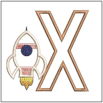 Rocket Applique ABCs - X - Embroidery Designs