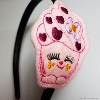 Cupcake Felty Headband Slider - Embroidery Designs