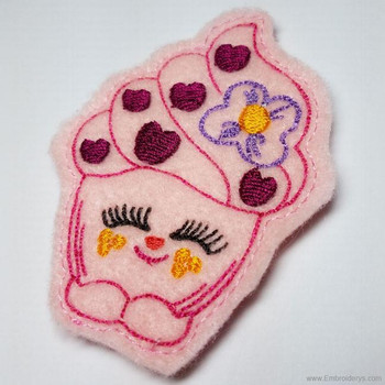 Cupcake Felty Headband Slider - Embroidery Designs