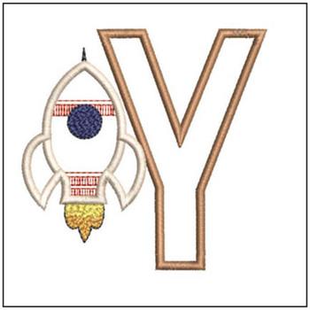 Rocket Applique ABCs - Y - Embroidery Designs