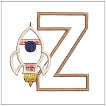 Rocket Applique ABCs - Z - Embroidery Designs