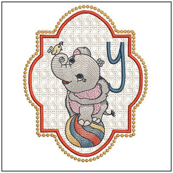 Circus Ellie ABC's - Y - Embroidery Design