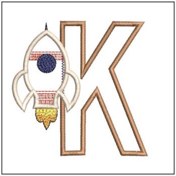 Rocket Applique ABCs - K - Embroidery Designs