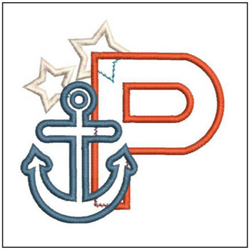 Anchor Applique ABC's - P - Embroidery Designs