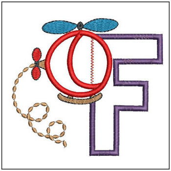 Helicopter ABC's - F - Embroidery Designs