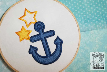 Anchor Applique - Embroidery Design- Fits in a 4x4, 5x7 Hoop