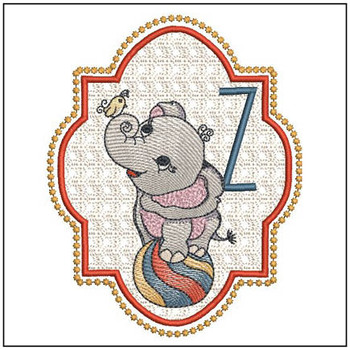 Circus Ellie ABC's - Z - Embroidery Design