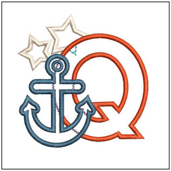 Anchor Applique ABC's - Q - Embroidery Designs