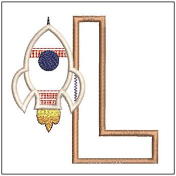 Rocket Applique ABCs - L - Embroidery Designs