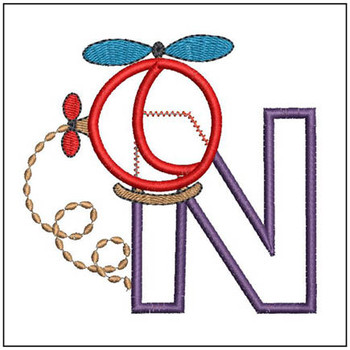 Helicopter ABC's - N - Embroidery Designs