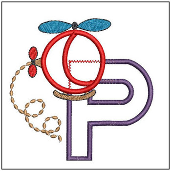 Helicopter ABC's - P - Embroidery Designs