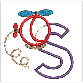 Helicopter ABC's - S - Embroidery Designs
