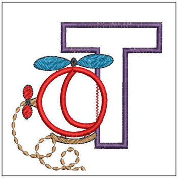Helicopter ABC's - T - Embroidery Designs