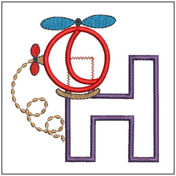 Helicopter ABC's - H - Embroidery Designs