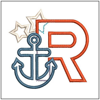 Anchor Applique ABC's - R - Embroidery Designs