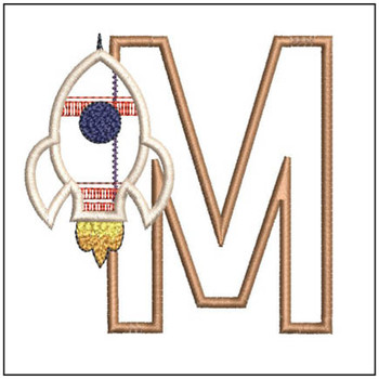 Rocket Applique ABCs - M - Embroidery Designs