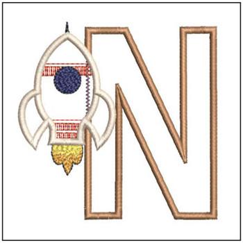 Rocket Applique ABCs - N - Embroidery Designs