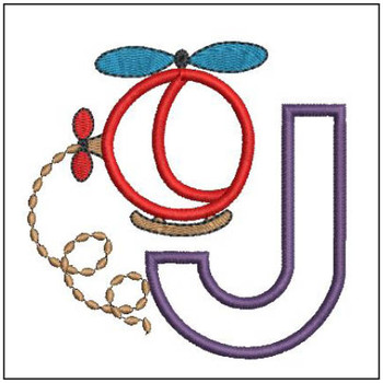 Helicopter ABC's - J - Embroidery Designs