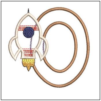 Rocket Applique ABCs - O - Embroidery Designs
