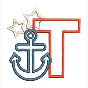 Anchor Applique ABC's - T - Embroidery Designs