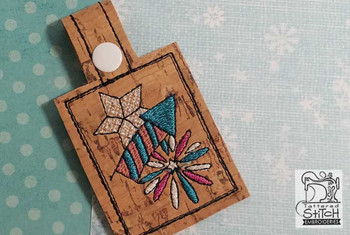 "Fireworks Key Chain - Fits a 4x4"" Hoop - Instant Downloadable Machine Embroidery"