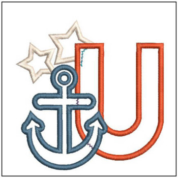 Anchor Applique ABC's - U - Embroidery Designs