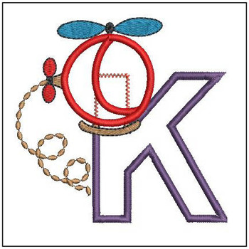 Helicopter ABC's - K - Embroidery Designs