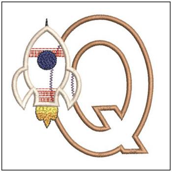 Rocket Applique ABCs - Q - Embroidery Designs