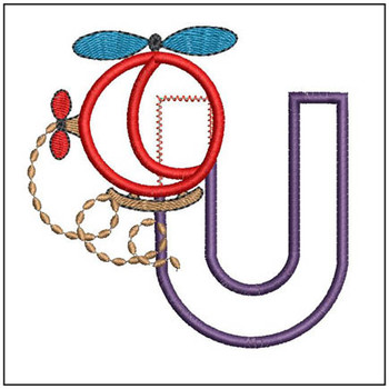 Helicopter ABC's - U - Embroidery Designs