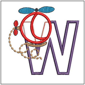 Helicopter ABC's - W - Embroidery Designs