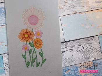 Sketched Wild Flowers - Embroidery Designs