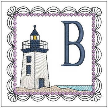 Lighthouse ABC's Applique - B - Embroidery Designs