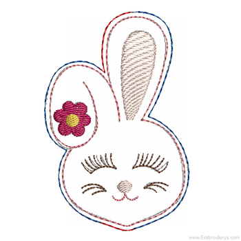 Bunny Headband Slider Felty - Embroidery Designs