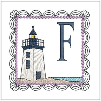 Lighthouse ABC's Applique - F - Embroidery Designs