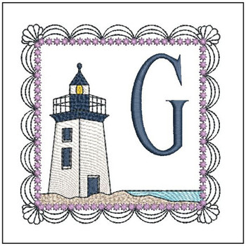 Lighthouse ABC's Applique - G - Embroidery Designs