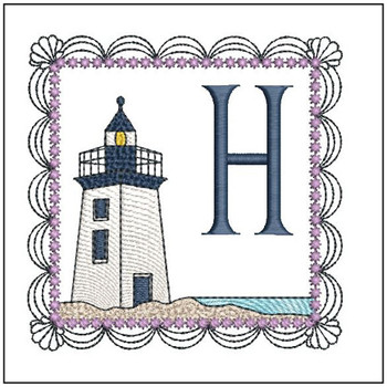 Lighthouse ABC's Applique - H - Embroidery Designs