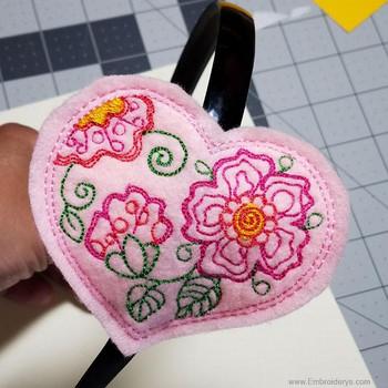 Heart Headband Slider - Embroidery Designs