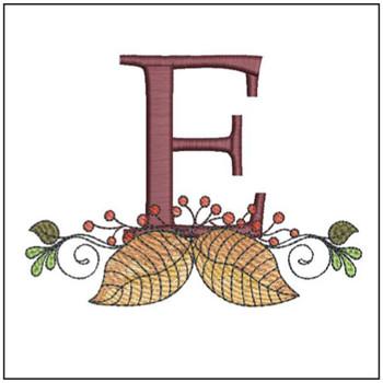 Aspen Leaf ABC's - E - Embroidery Designs