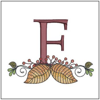 Aspen Leaf ABC's - F - Embroidery Designs