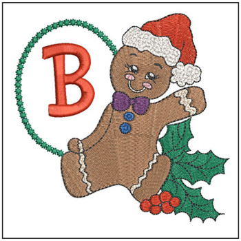Gingerbread Man ABC's - B - Embroidery Designs