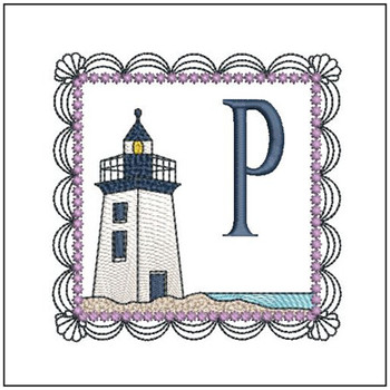 Lighthouse ABCs - P - Embroidery Designs