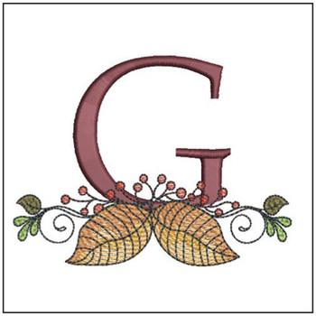 Aspen Leaf ABC's - G - Embroidery Designs