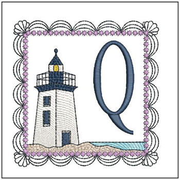 Lighthouse ABCs - Q - Embroidery Designs